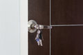 Door key for unlock photo Royalty Free Stock Photos