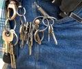 Door Keys on Janitors Work Ring