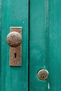 Door knob,Antique door knob. Royalty Free Stock Photo