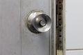 Door knob on the white Royalty Free Stock Photos