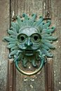 Door knocker antique at the front of durham cathedral england Royalty Free Stock Photos