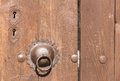 Door knocker and lock in safranbolu Royalty Free Stock Images