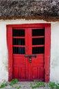 Door of mayan house doorway a maya home in merida mexico Stock Photo