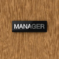 Door nameplate Royalty Free Stock Photos