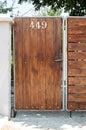 Door with number 449