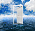 Door on the ocean d Royalty Free Stock Image