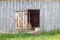 Door in an old barn Royalty Free Stock Photo