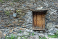 Door old on caucasus building Royalty Free Stock Photo