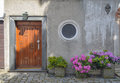 Door in old european house Royalty Free Stock Photography