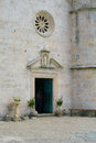 Door our lady of the rocks church on an artificial island in bay kotor montenegro Stock Photo