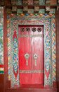 Door at the Pemayangtse Monastery, Sikkim, India Royalty Free Stock Photo
