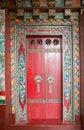Door at the Pemayangtse Monastery, Sikkim, India Royalty Free Stock Photo