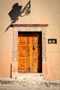 Door, San Miguel de Allende, Mexico Royalty Free Stock Photo