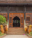 The door at simokkhanla temple chaingmai thailand Stock Photography