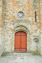 Door, St-Vincent Church Royalty Free Stock Photography