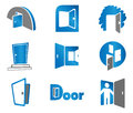 Door symbols and icons Stock Images