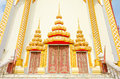 Door Thai temple, Khonkaen Thailand Royalty Free Stock Photos