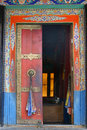 A door of Thiksey Monastery Stock Photo