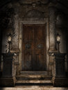 Door to a crypt Royalty Free Stock Photo