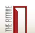 Door to the future illustration design over a white background Royalty Free Stock Image