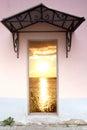 Door to the sea Royalty Free Stock Photo
