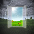 Door to summer abstract environmental backgrounds Stock Photo