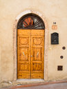 Door of tuscany wooden italian style hous Royalty Free Stock Photos