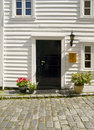 Door of a typical Stavanger Houses Royalty Free Stock Image