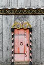 Door of the viking church in Moesgaard Royalty Free Stock Photo