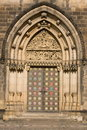 Door of Vysehrad cathedral Stock Images
