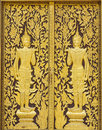 The door at wat dokkham chaingmai thailand Stock Photography