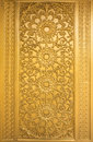 Door woodcarving in temple thailand Royalty Free Stock Photography
