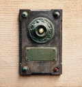 Doorbell in vintage style made from steel and copper Royalty Free Stock Images