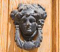 Doorknocker antico. Fotografia Stock
