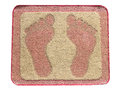 Doormat foot isolate. Royalty Free Stock Photo