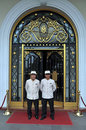 Doormen at Majestic Hotel Ho chi Minh City Vietnam Royalty Free Stock Images