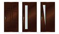 Doors classic interior wooden realistic vector illustration eps Royalty Free Stock Photography