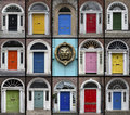 Doors - Dublin - Republic of Ireland Royalty Free Stock Photo