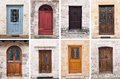 Doors in france eight different southern Stock Images