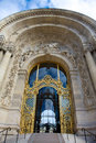 Doors of the grand palais in paris against a blue sky france Stock Images