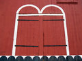 Doors of old red barn in kutztown berks county pa door detail an historic pennsylvania bank the sharadin the is preserved at the Stock Photo
