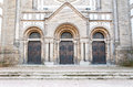 The doors of the old synagogue Royalty Free Stock Photo