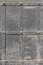 Doors reinforced with iron close up Stock Photography