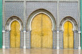 Doors of the royal palace in fes morocco marrocan king Royalty Free Stock Photography