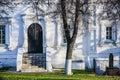 Doors, shadows and a tree Royalty Free Stock Photo