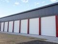 Doors at storage facility row of garage Stock Photography