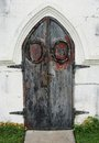 Doors to a mausoleum at a cemetery in galveston texas Stock Photo