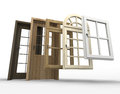 Doors and windows selection Royalty Free Stock Photo
