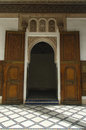 Doorway in the bahia palace in marrakesh morocco Royalty Free Stock Photos