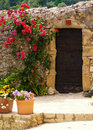 A doorway in france hilltop village along the french riviera southern Royalty Free Stock Photos